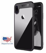 iPhone X Slim Anti-Scratch Shockproof Cover Clear Hard Back Panel + TPU Bumper