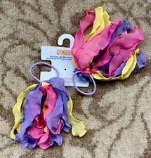 Gymboree Girls Hair Bobble / Hair Tie x 2 - Yellow, Pink and Purple, New