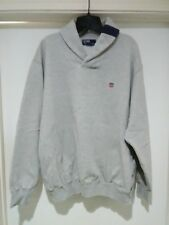 20c74530194 Vintage Polo Ralph Lauren K Swiss USA Shield Shawl Collar Sweatshirt Size  Large