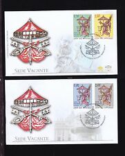 Vatican  2013 two FDC covers  FV 6.05 Euro.Sede Vacante set.See scan.