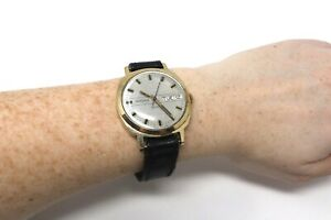 A Large Vintage Gents Gold Plated Sekonda Manual Wristwatch Working #28751