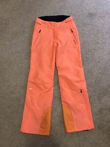 KJUS Formula Orange Winter Women's Ski Snow Pants Sz EU 38 ~ S/M.