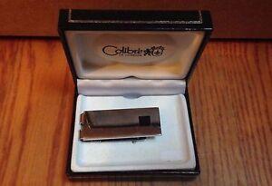 Colibri Money Clip AMC029100 Polished Nickel finish w/ Black Center - NEW IN BOX