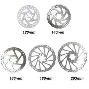 Bicycle Bike MTB Cycling Brake Disc Rotor 120mm140mm/160mm/180mm/203mm 6 Bolts
