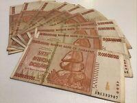 Lot Of 10 X Zimbabwe Banknotes. 50 Billion Dollars. Harare 2008. P87.