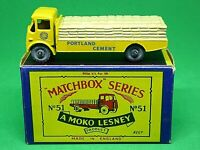Matchbox Lesney No.51a Albion Chieftain 'Portland Cement' In B3 Series MOKO Box