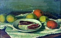 STILL LIFE. OIL ON CANVAS. SIGNED E. PORTA. SPAIN. TWENTIETH CENTURY
