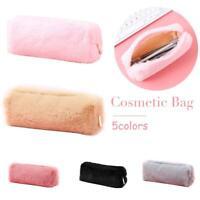 Soft Fashion Plush Pencil Case Pen Bag Coin Purse Cosmetic Pouch Handbags Gifts