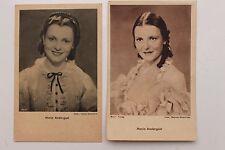 27680 2 Ross Film AK von Maria Andergast  um 1939 Ufa Schauspieler