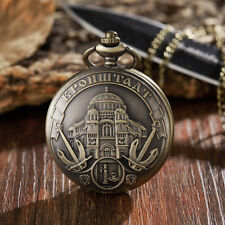Vintage Alice in World Quartz Pocket Watch Women Men Gifts Classic Pendant Chain