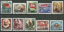 DDR MiNr. 344-353 (Karl Marx) kpl. gestempelt