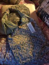 INDIKAH Sweet  Sage Green  Batik Jhola Purse NWT