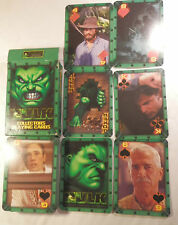 HULK  COLLECTORS  PLAYING CARDS USED MARVEL UNIVERSAL