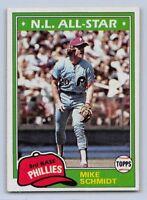 1981  MIKE SCHMIDT - Topps Baseball Card # 540 - PHILADELPHIA  PHILLIES