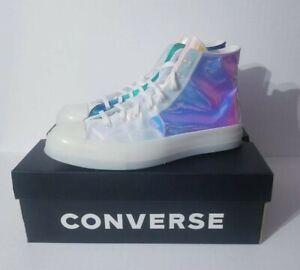 Converse Chuck Taylor All Star 70 Hi Top Iridescent White Shoes 163786C Sz 8.5