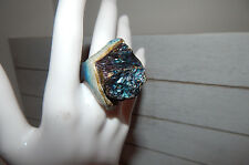 ANTHROPOLOGIE RING 5.5 DARA ETTINGER AQUA BLUE STONE ARTISAN CERAMIC $158 #D14
