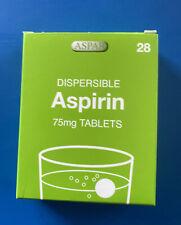 "Dispersible Aspirin 75mg ""LOW DOSE"" 28 Tablets Exp:06/2022"