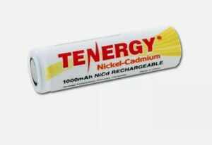 Tenergy AA 1.2V 1000mAh High Capacity NiCd Rechargeable Battery Cell Flat Top