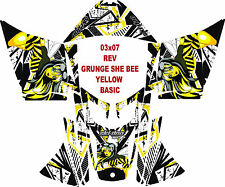 SKI DOO SNOWMOBILE DECAL WRAP REV,XP, XR,XS,XM  03-16 GRUNGE QUEEN BEE BASIC