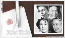 "Gb 2002 Dx28 ""Gracious Accession"" Prestige Booklet Pane (3), 2254b/Wp1449. Used"