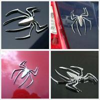 1x Universal Car Truck 3D Spider Silver Chrome Badge Sticker Logo Emblem Decal