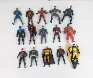 Kenner 90s Batman Robin Mixed Lot DC Comics Action Figures Lot of 15