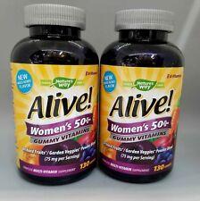 Nature's Way Alive! Women's 50+ Gummy Vitamins 130 Gummies 2PK Exp 11/20+