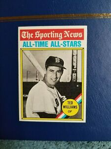 1976 TOPPS BASEBALL #347 TED WILLIAMS ALL-TIME ALL STAR  NEAR MINT