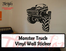 Monster Truck Vinyl Wall Sticker