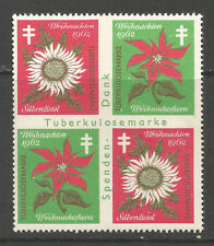 Germany Christmans 1962 Tuberculosis (TB) charity stamp/label