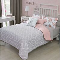 NEW FREE ELEGANT TEENS GIRLS REVERSIBLE COMFORTER SET 3 PCS TWIN SIZE