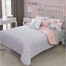 New Free Elegant Teens Girls Reversible Comforter Set 3 Pcs Twin Size