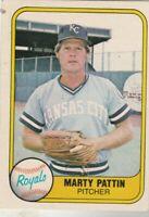 FREE SHIPPING-MINT-1981 Fleer #37 Marty Pattin Royals PLUS BONUS CARDS