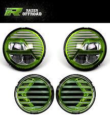 Extreme Green+LED Headlight+Turn Signal+Running Light for 07-18 Jeep JK Wrangler