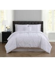 Truly Soft Arrow Pleated Bed in a Bag - King - White