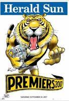 2017 AFL PREMIERS GRAND FINAL RICHMOND TIGERS PREMIERSHIP WEG KNIGHT POSTER