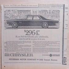 1963 newspaper ad for Chrysler - Newport Sedan,Chrysler price unbelievable