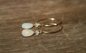 Genuine Ethiopian Opal Earrings briolette & beads Jewelry Welo Opal Dangle