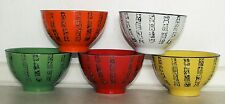 Set of 5 mixed colours Rice/noodle/soup Bowls with Calligraphy design