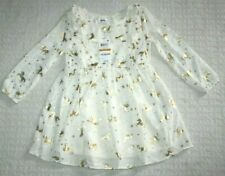 Unicorn girls toddler dress IVORY Gold New NWT Size 3T MSRP:$34.00