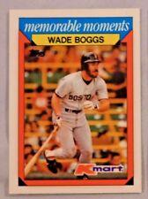 1988 Topps Kmart Memorable Moments Wade Boggs Red Sox Baseball Card Lot of 2