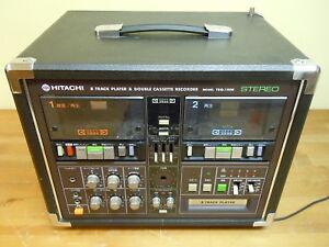 Hitachi 8 Track Player & Double Cassette Recorder Karaoke Center System TRQ-150K
