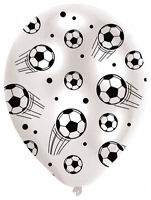 6 x Football Latex Balloons Helium fill or Air fill Party Decorations FREE P&P