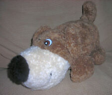 HAAN  CRAFTS  VINTAGE  plush  PUPPY DOG   BROWN, WHITE    12 INCHES  BIG NOSE !!