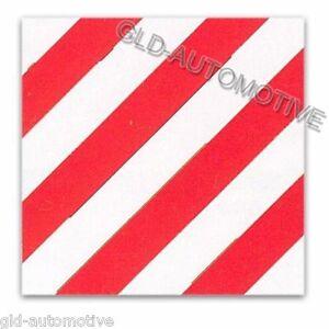 Segnalazione CARICO SPORGENTE Bianco-Rosso 50x50 cm con catarifrangenti