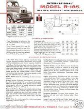 Truck Brochure - International - R-185 - Red (TB470)