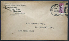 Cover - True 3 Cent Bisect to 1 1/2 Ct 3rd Class Mail rate - Chase Va S36