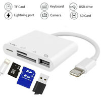 4 in 1 Lightning to USB Camera Memory TF SD Card Reader Adapter For iPhone iPad