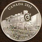 2011 Canadian Pacific D-10 Steam Locomotive Canada $20 Silver Proof
