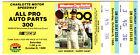 1988+ALL+PRO+AUTO+PARTS+Ticket+Stub+CHARLOTTE+MOTOR+SPEEDWAY+Rob+Moroso